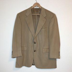 Nordstrom LORO PIANA 100% Cashmere Tan Sport Coat